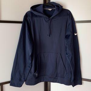Nike Men's Dark Blue Hooded Sweatshirt